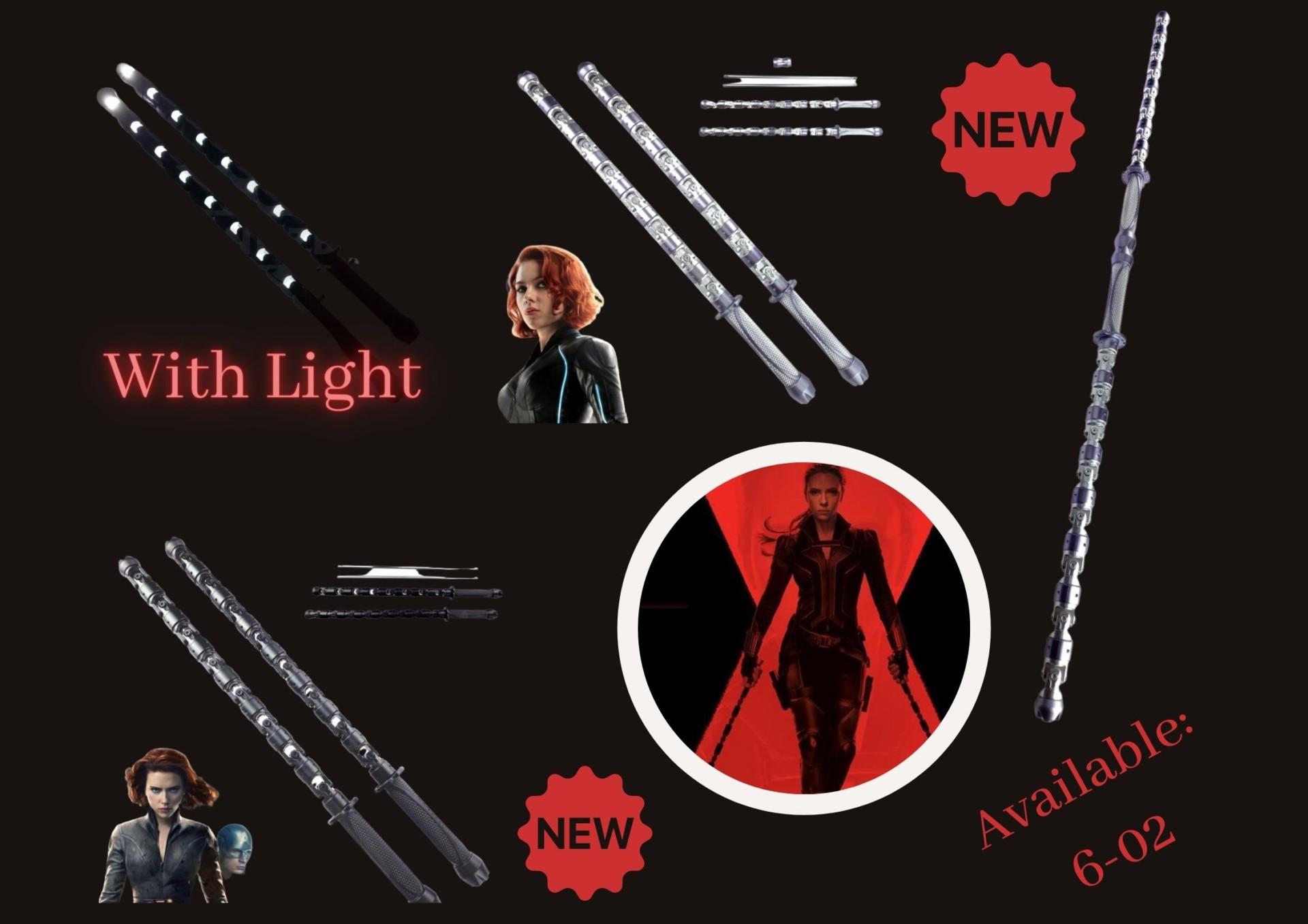 Black widow staff Avengers Luminous  Silver